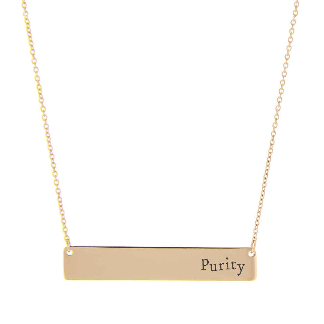Purity Bar Necklace - FP-HBN10253