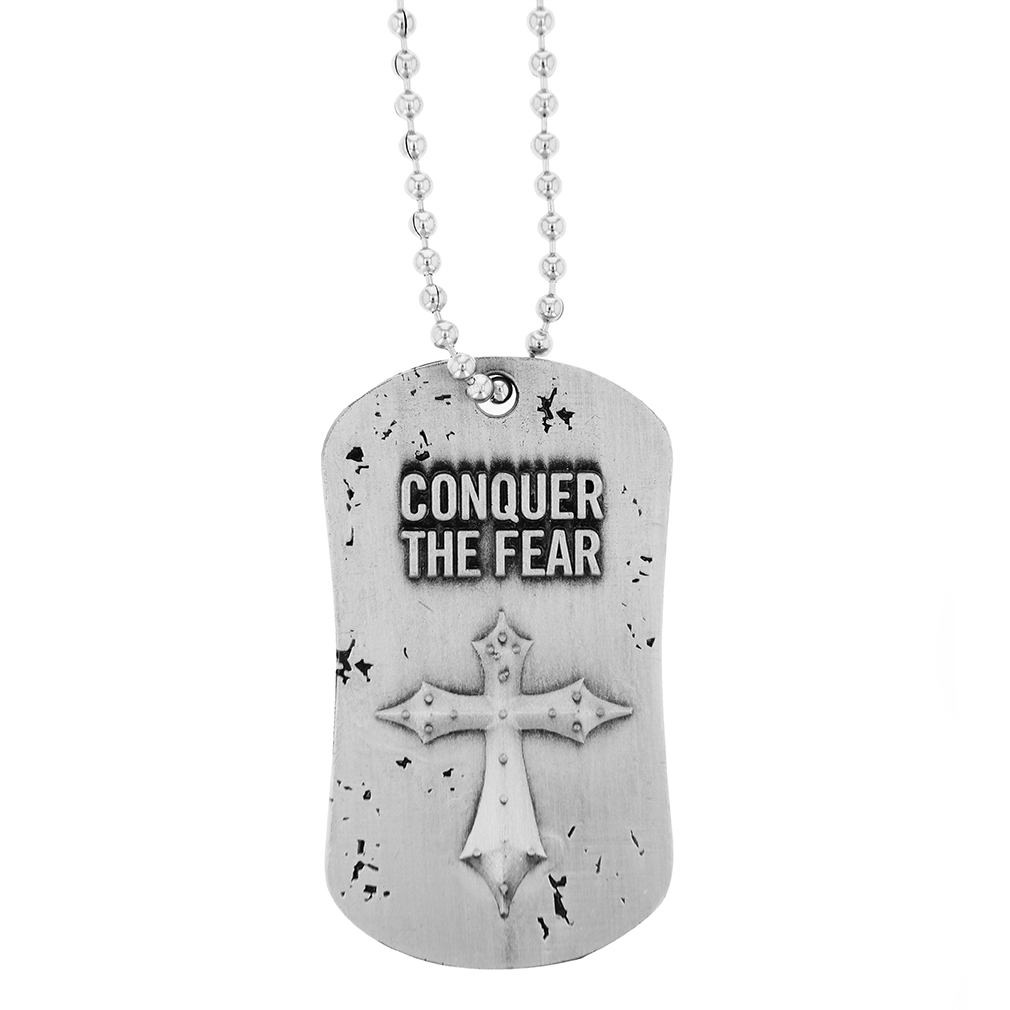 Conquer the Fear Dog Tag - SOS-10227