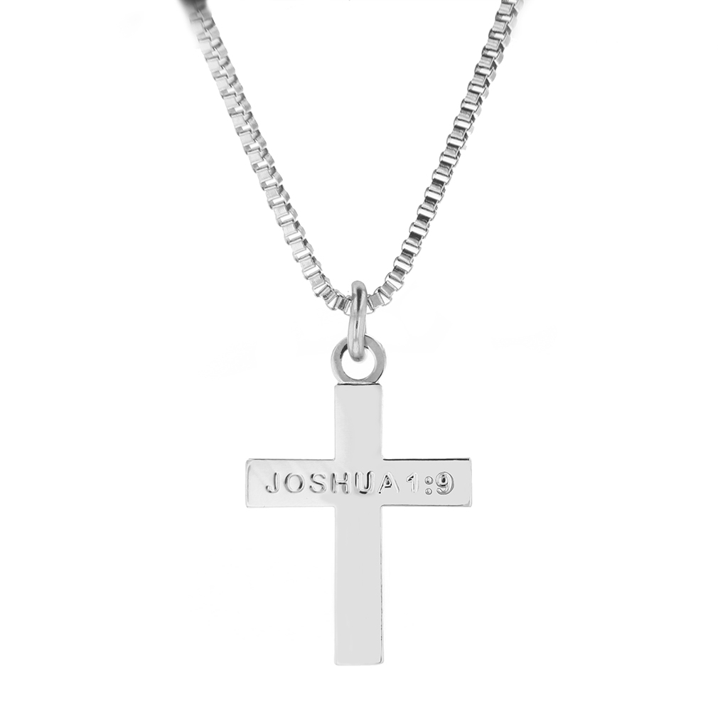 Joshua 1:9 Cross Necklace