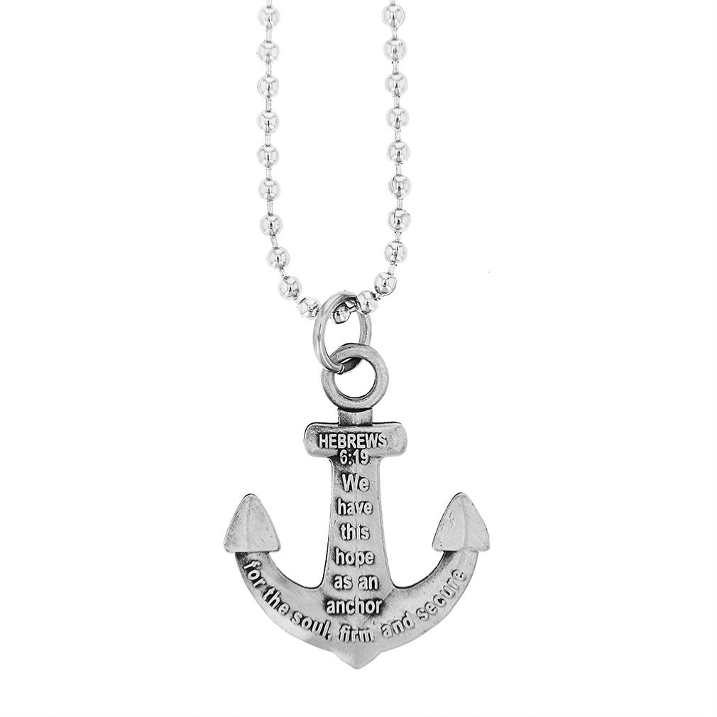 Anchor Pendant Antique Necklace, Hebrews 6:19 (#SOS-20479