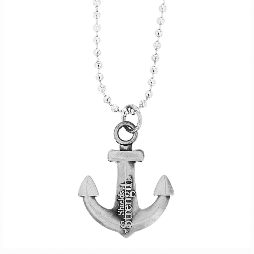 Anchor Pendant Antique Necklace, Hebrews 6:19 - SOS-20479