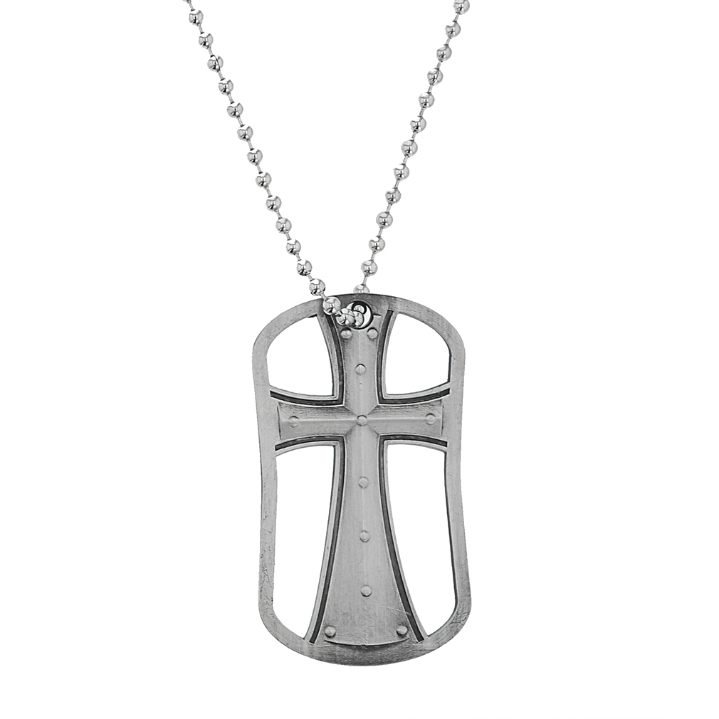Genesis 26:24 Cut Out Cross Dog Tag - SOS-30218