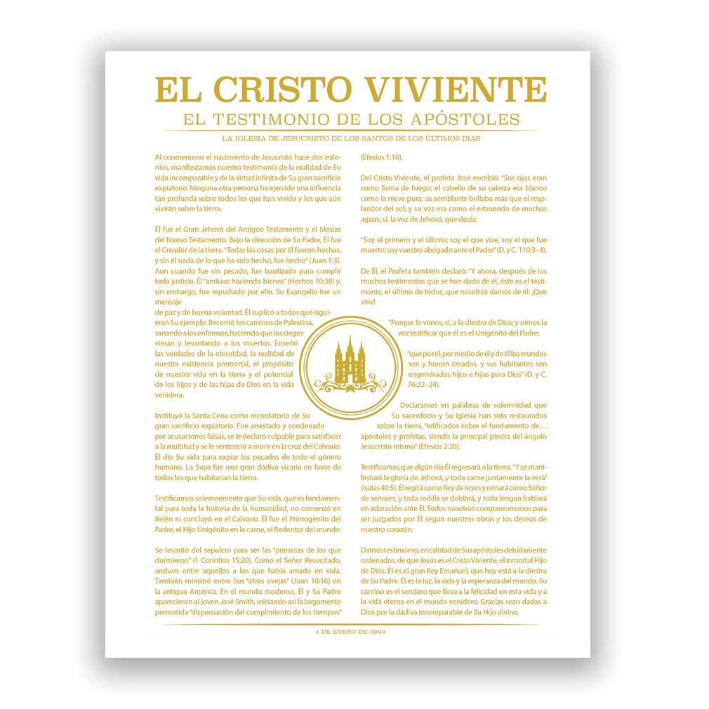 Temple Stamp Living Christ - Spanish - LDP-LC283S