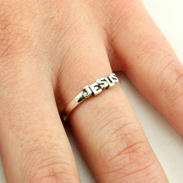 Cut-out Jesus Ring - SR-442