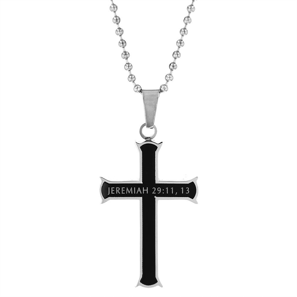 I Know Black Iron Cross Necklace - ST-BLK-IC-I-Know