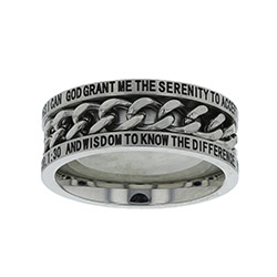 Serenity Prayer Chain Ring