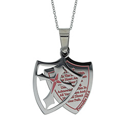 Girls Trust 2 Piece Shield Necklace