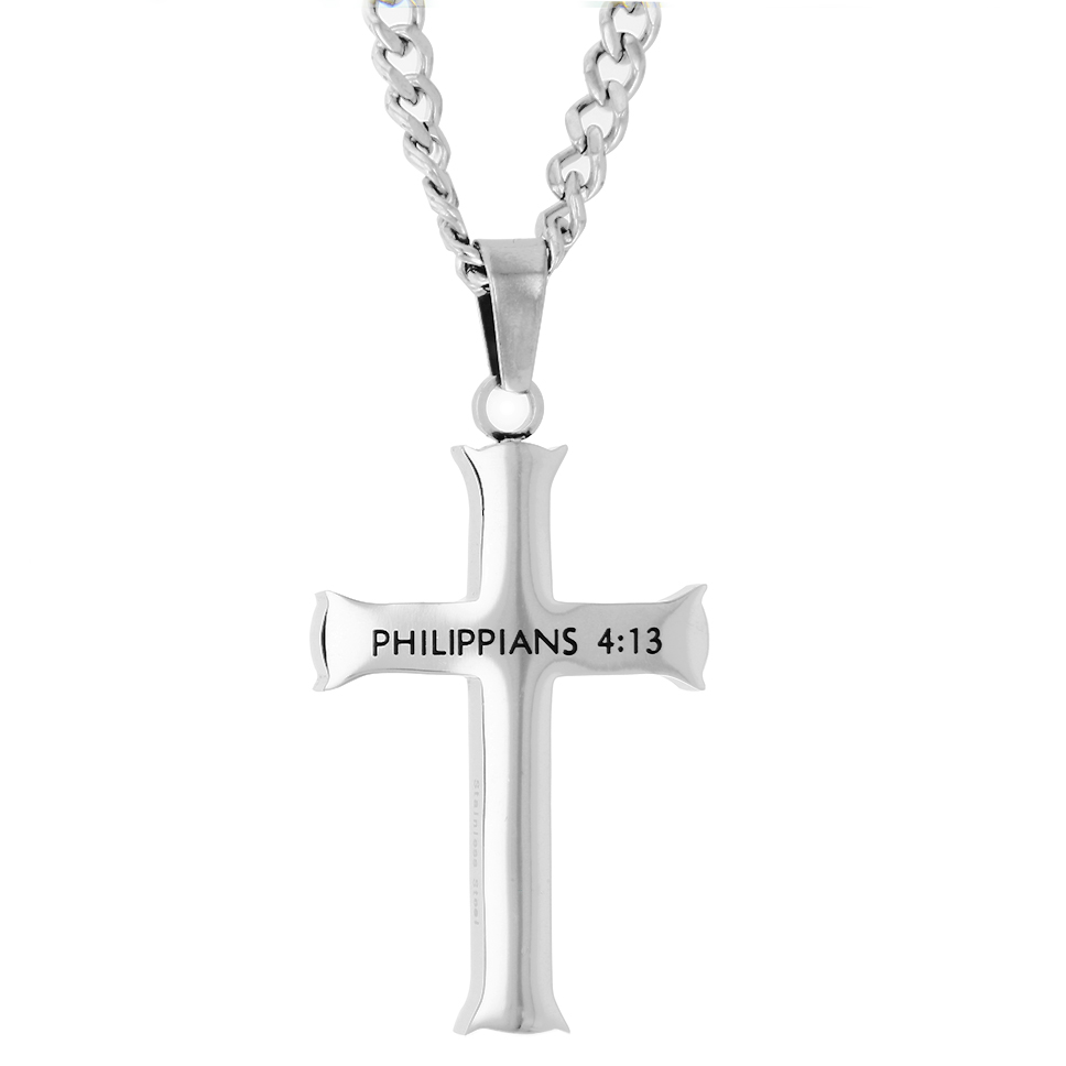 Through Christ Iron Cross Necklace - ST-IC-Through-Christ
