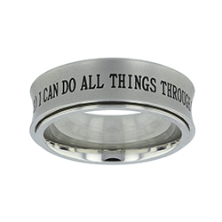 Silver Phil 4:13 Spinner Ring