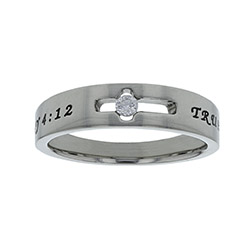 True Love Waits Birthstone Solitaire Ring - April