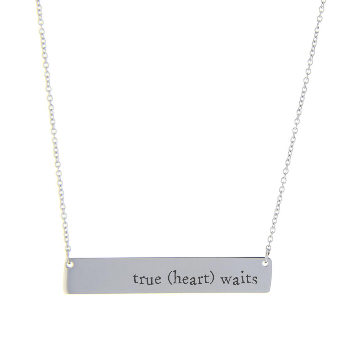 True (heart) Waits Bar Necklace - FP-HBN10280