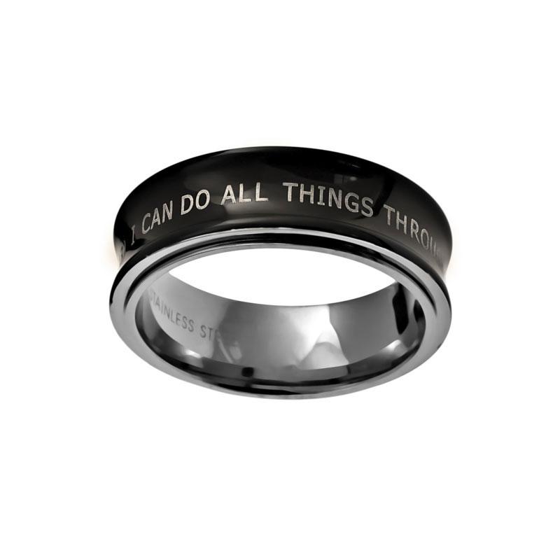 Black Phil 4:13 Spinner Ring - ST-RR107