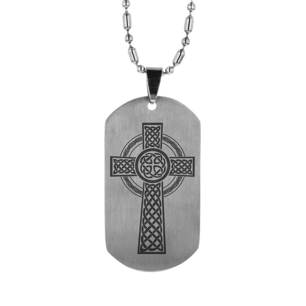 Celtic cross dog tag fp dtg15180 dog tag necklaces on celtic cross dog tag audiocablefo
