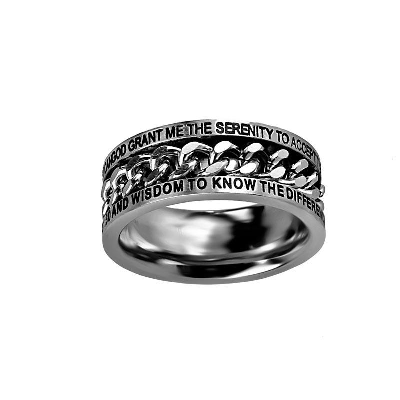 Serenity Prayer Chain Ring St Chain Serpr Men S Rings