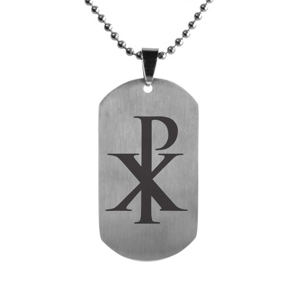 Chi Rho Dog Tag - FP-DTG15185