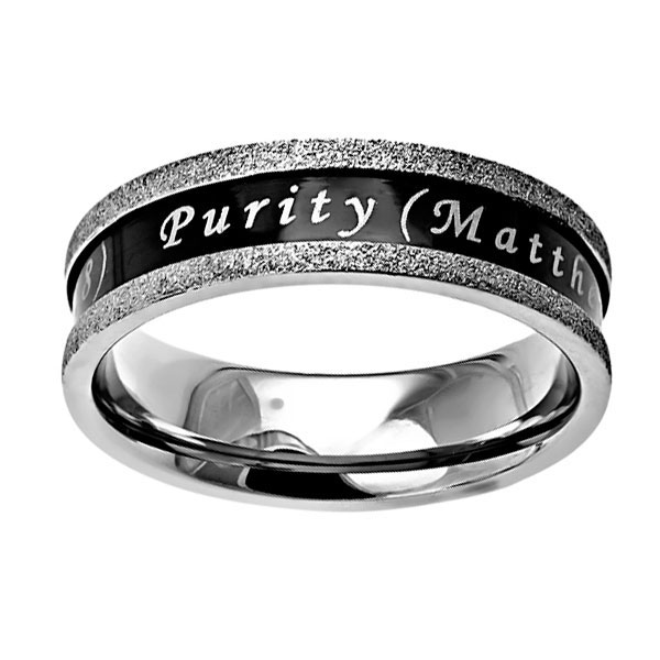 Purity Ebony Champagne Ring - ST-BLK CHMP PUR