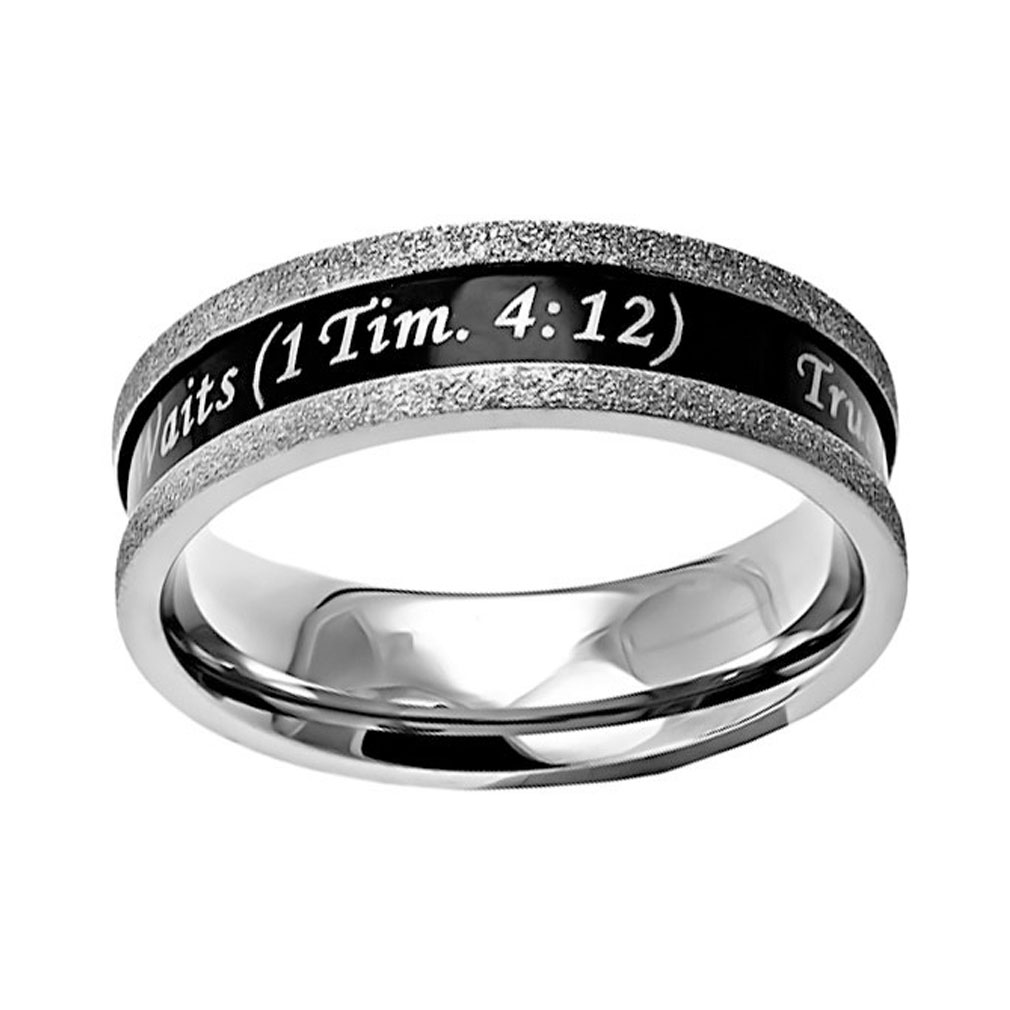 True Love Waits Ebony Champagne Ring - ST-BLK CHMP TLW