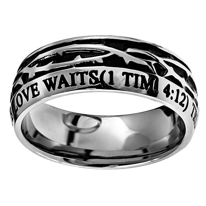 True Love Waits Crown of Thorns Ring - ST-COT-TLW
