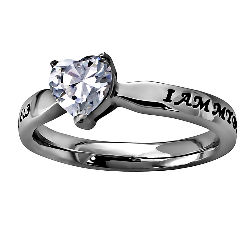 I Am My Beloved's Solitaire Heart Ring - ST-CZH BLVD