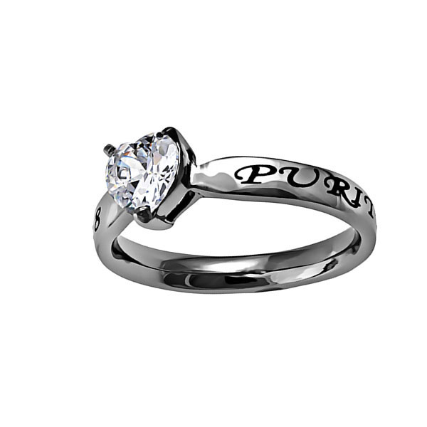 Purity Solitaire Heart Ring