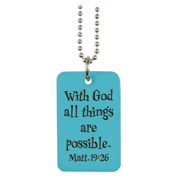 Believe Blue Charm Dog Tag - CAG-DTG013