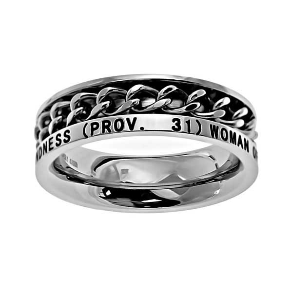 Woman of God Chain Ring - ST-GCR WOG