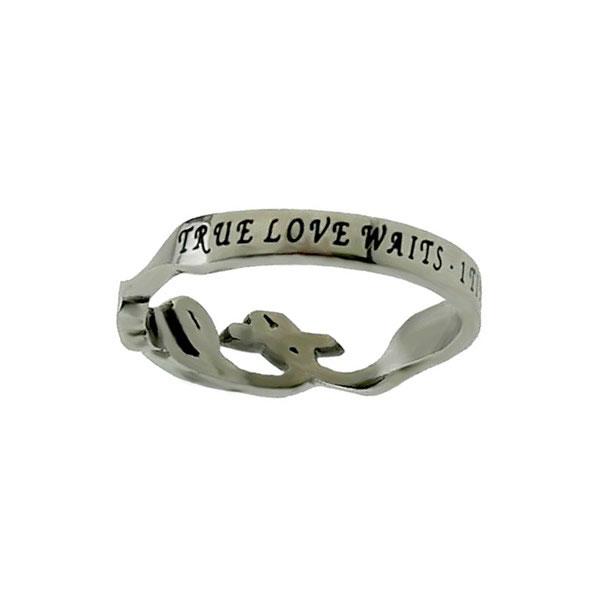 True Love Waits Cursive Ring - ST-HW-TLW