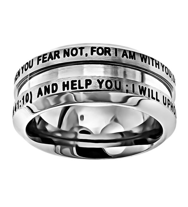 Fear Not Industrial Band Ring - ST-IND FN