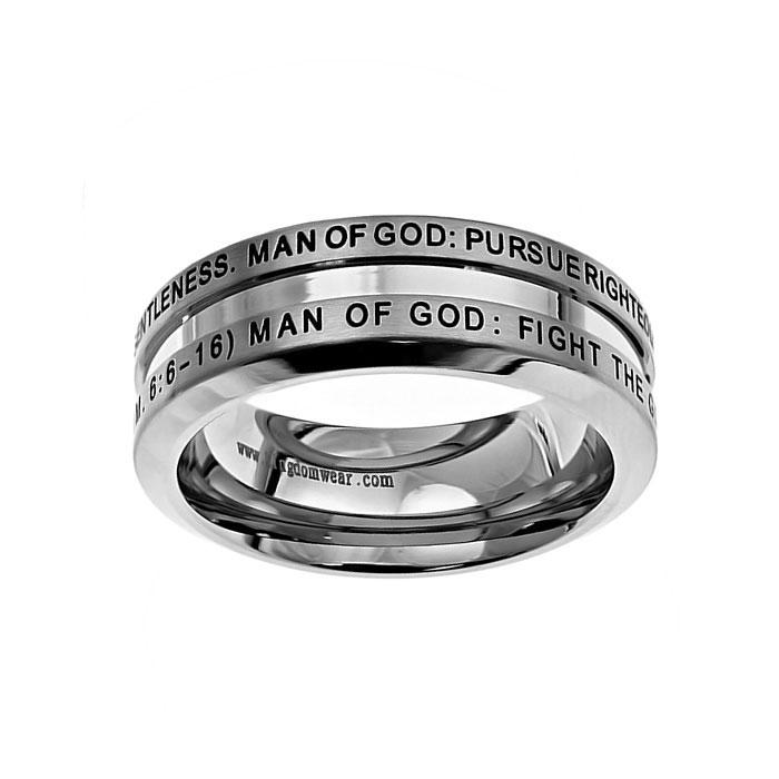 Man of God Industrial Band Ring - ST-IND MOG
