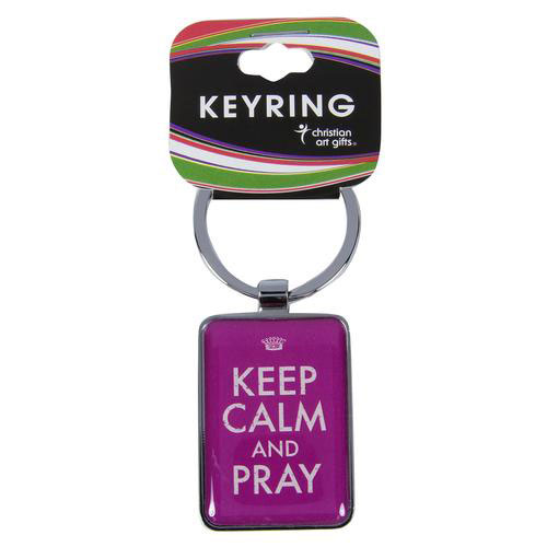 Keep Calm and Pray Metal Keyring - CAG-KEP016