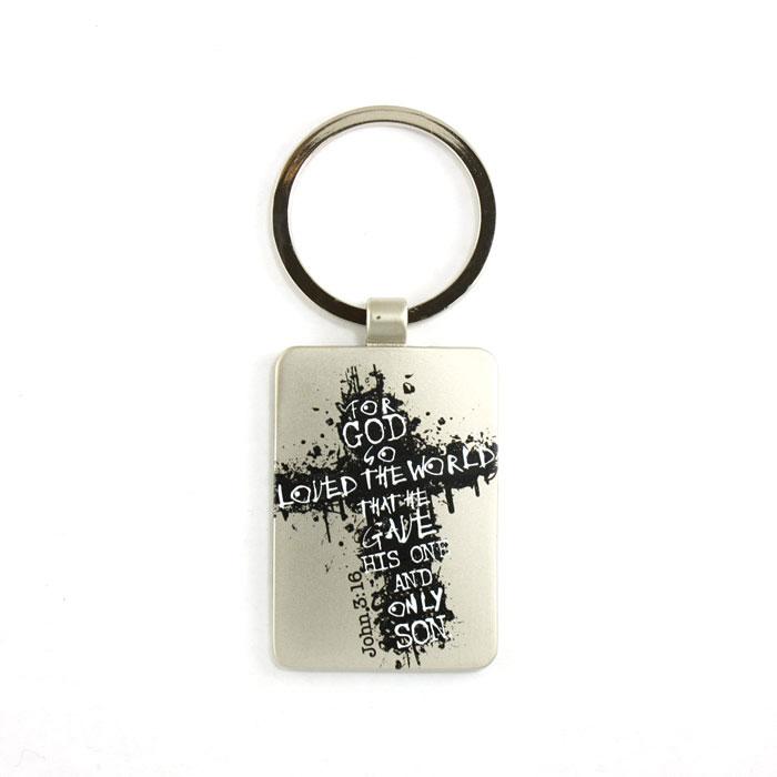 John 3:16 Metal Keyring