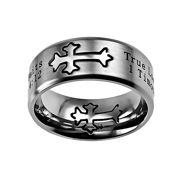 True Love Waits Neo Cross Ring - ST-NEO-TLW-SIL