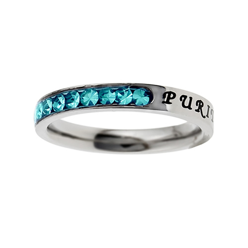 Purity Birthstone Princess Cut Ring - December
