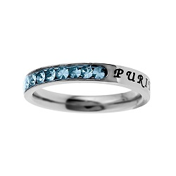 Purity Birthstone Princess Cut Ring - March
