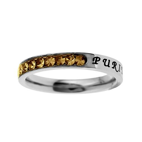 Purity Birthstone Princess Cut Ring - November - ST-PC-BS-PURITY-NOV