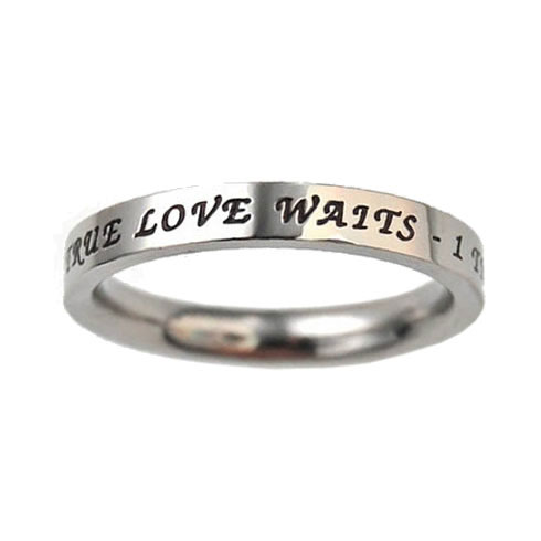 True Love Waits Birthstone Princess Cut Ring - July - ST-PC-BS-TLW-JUL
