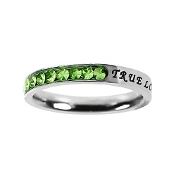 True Love Waits Birthstone Princess Cut Ring - August - ST-PC-BS-TLW-AUG