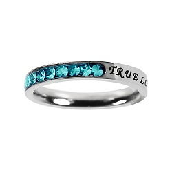 True Love Waits Birthstone Princess Cut Ring - December