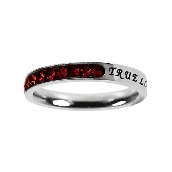 True Love Waits Birthstone Princess Cut Ring - January - ST-PC-BS-TLW-JAN