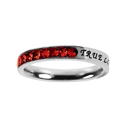 True Love Waits Birthstone Princess Cut Ring - July