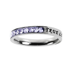 True Love Waits Birthstone Princess Cut Ring - June