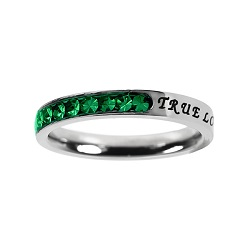 True Love Waits Birthstone Princess Cut Ring - May