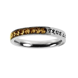 True Love Waits Birthstone Princess Cut Ring - November