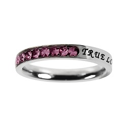 True Love Waits Birthstone Princess Cut Ring - October
