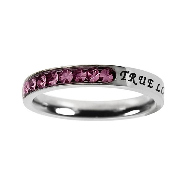 True Love Waits Birthstone Princess Cut Ring - October - ST-PC-BS-TLW-OCT
