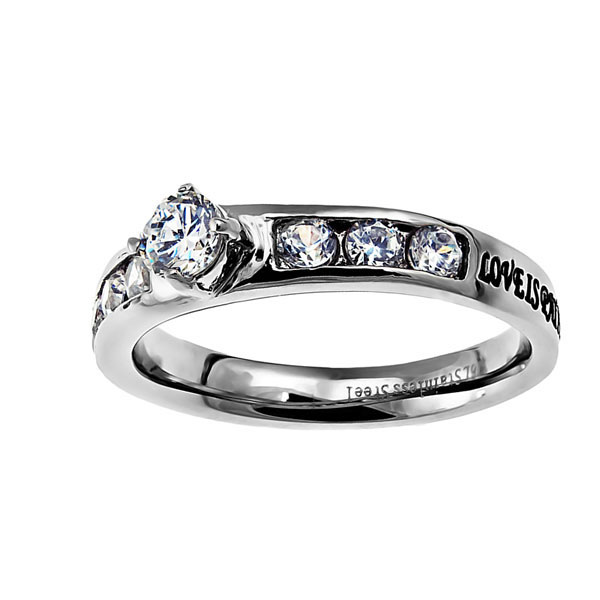 Love Princess Solitaire Ring - ST-PS LOVE