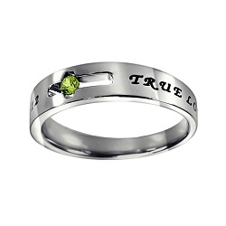True Love Waits Birthstone Solitaire Ring - August