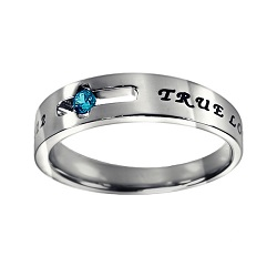 True Love Waits Birthstone Solitaire Ring - December