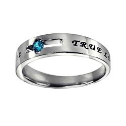 True Love Waits Birthstone Solitaire Ring - December