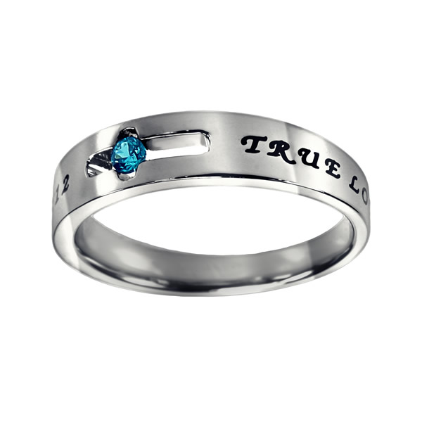 True Love Waits Birthstone Solitaire Ring - December - ST-SOL-TL-BS-DEC